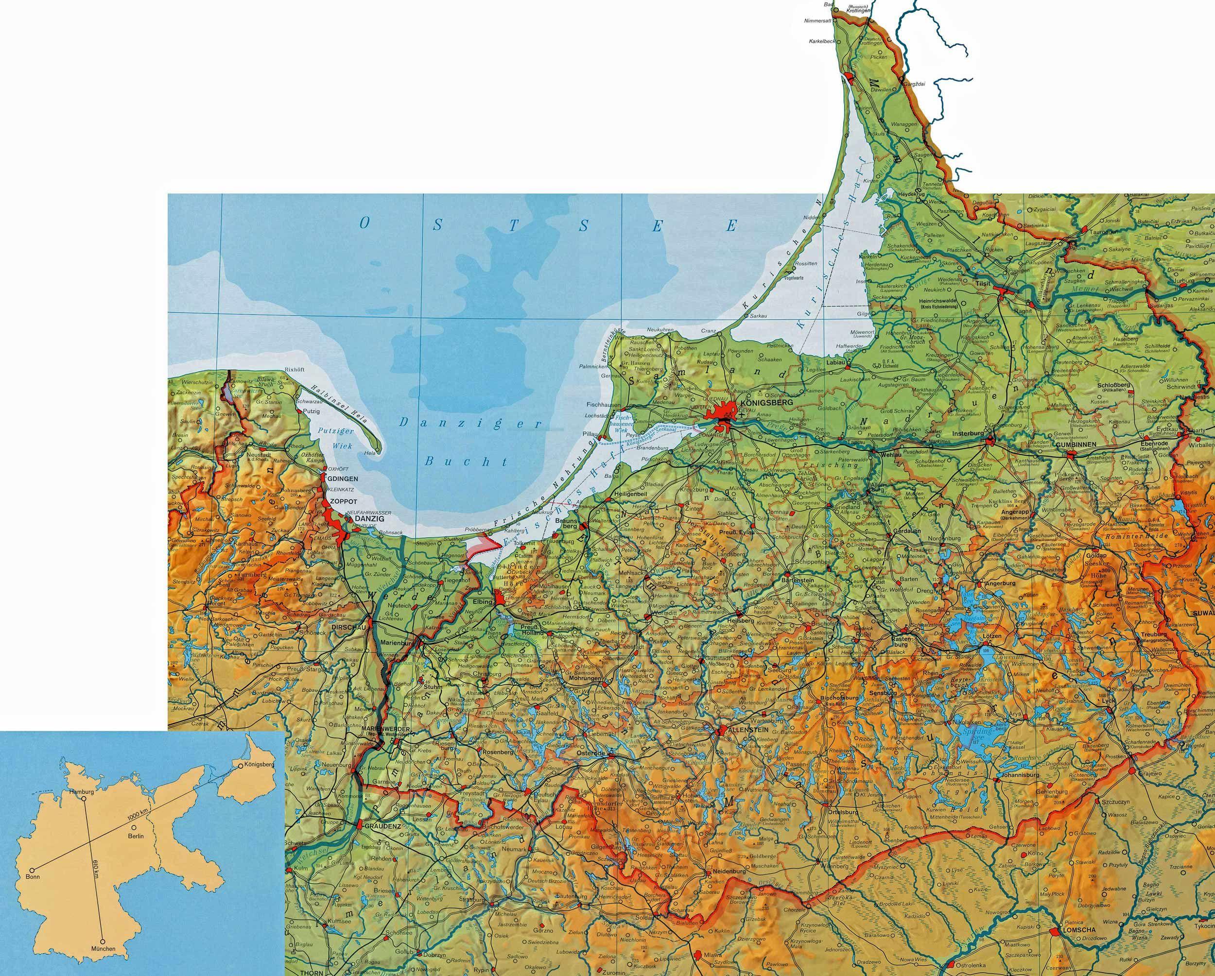 Karte Ostpreußen 1945