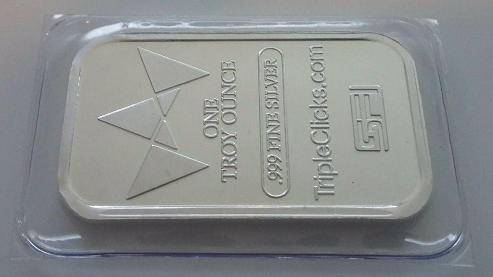 Silver Ingot 1 Troy Ounce Silver 999 Fine Silver Bar Lt6 Silver Bars Silver Ingot Fine Silver