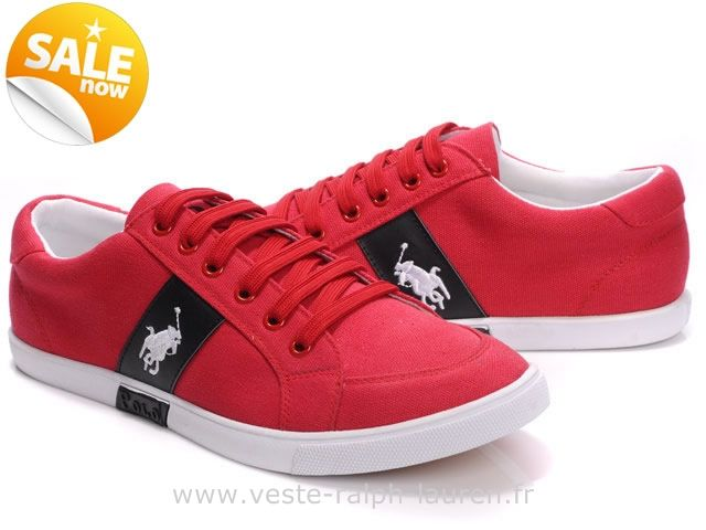 73a420d6f93f0f officiel Ralph Lauren chaussures mode style ronge mide blance Chaussures Polo  Ralph Lauren Homme