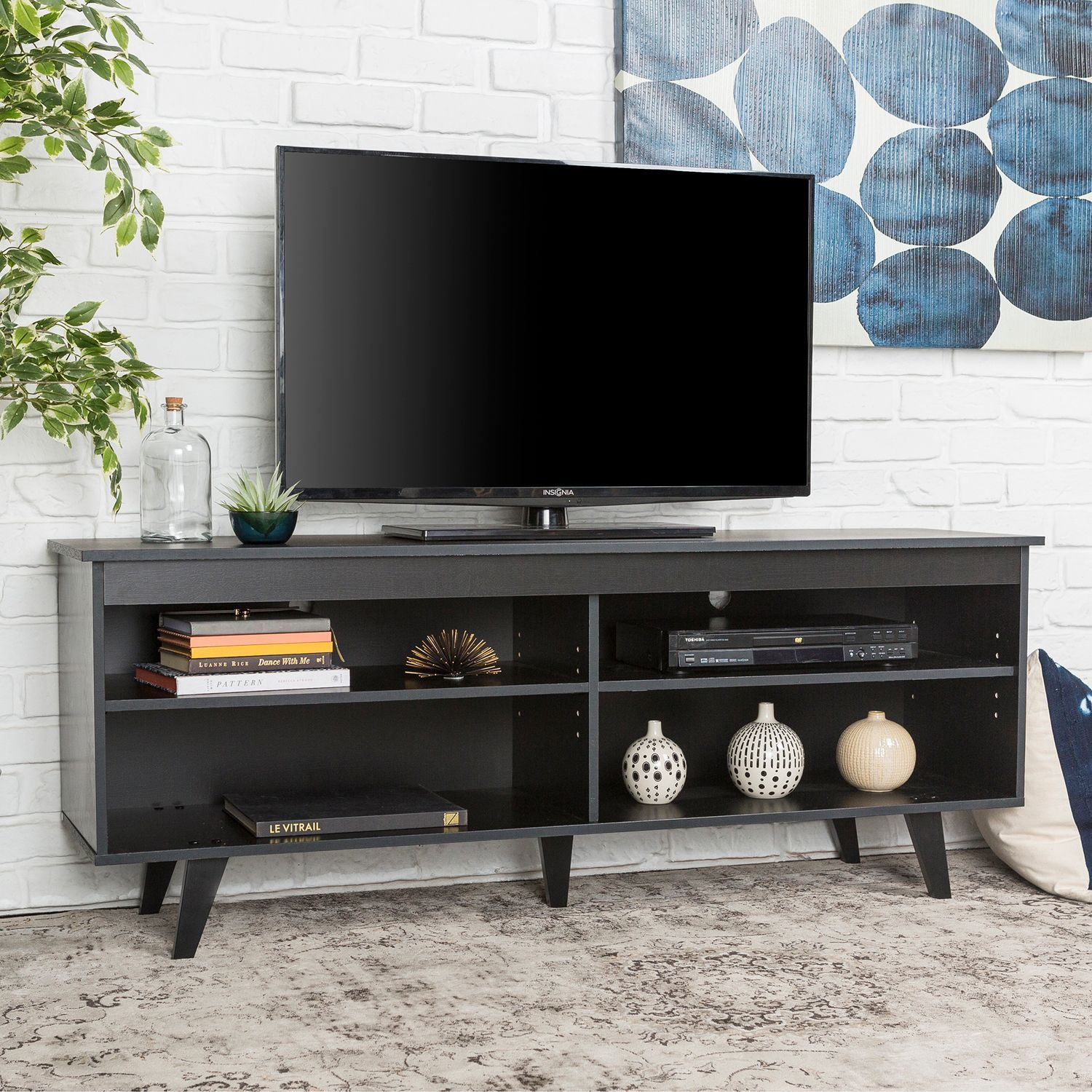 Modern Contemporary Black Tv Stand Pier 1 Imports Tv Stand Decor Living Room Tv Stand Decor Black Tv Stand