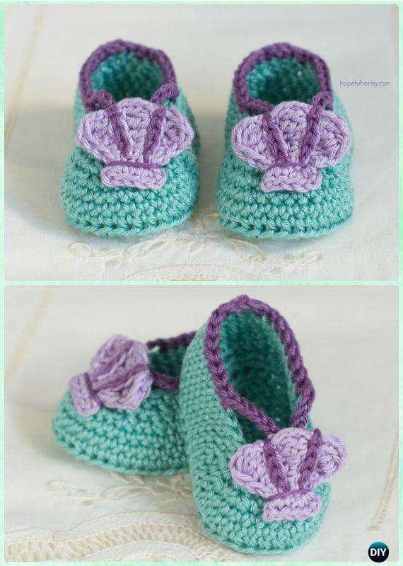 Crochet Mermaid Baby Booties Free Pattern - #Crochet Baby Booties ...