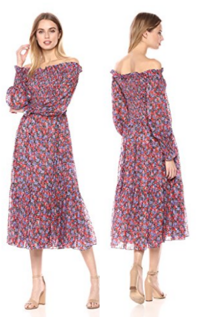 cda4e47b35ee Buy summer dresses online  Rebecca Taylor Women s Off-Shoulder Cosmic  Floral Dress