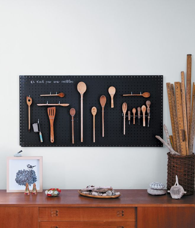 Slideshow The Best Of Diy Design Dwell Small Apartment Hacks Small Kitchen Storage Peg Board
