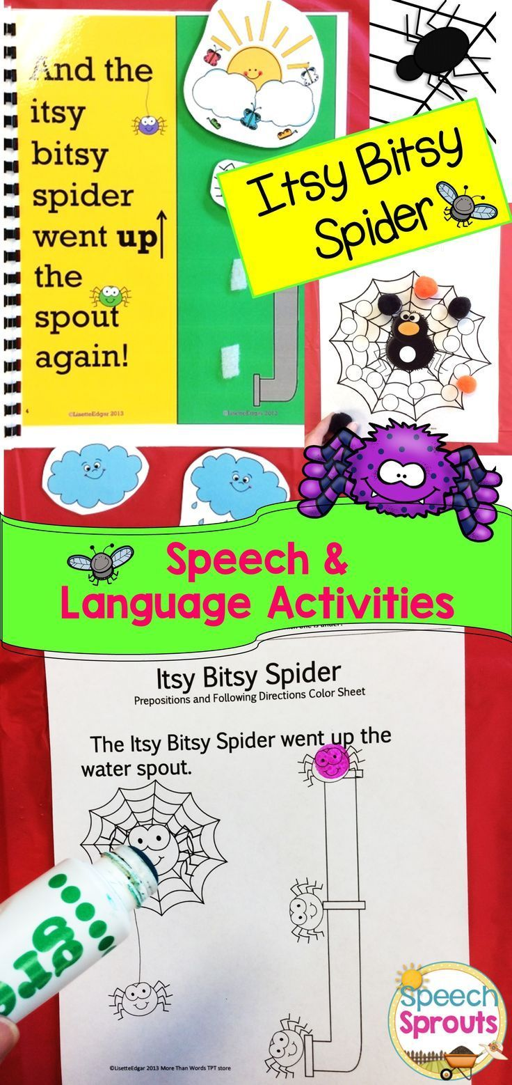 Itsy Bitsy Spider Speech Therapy Language & Articulation Unit | Wh ...