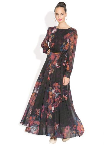 Ironi Floral Twirl Maxi Dress | Buy Red | Shop Online India | What ...