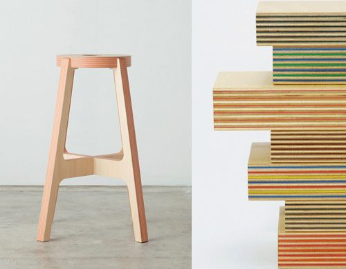 PaperWood Chairs By Drill Design From Japan Bloesem Stools - Cool wooden chair designs