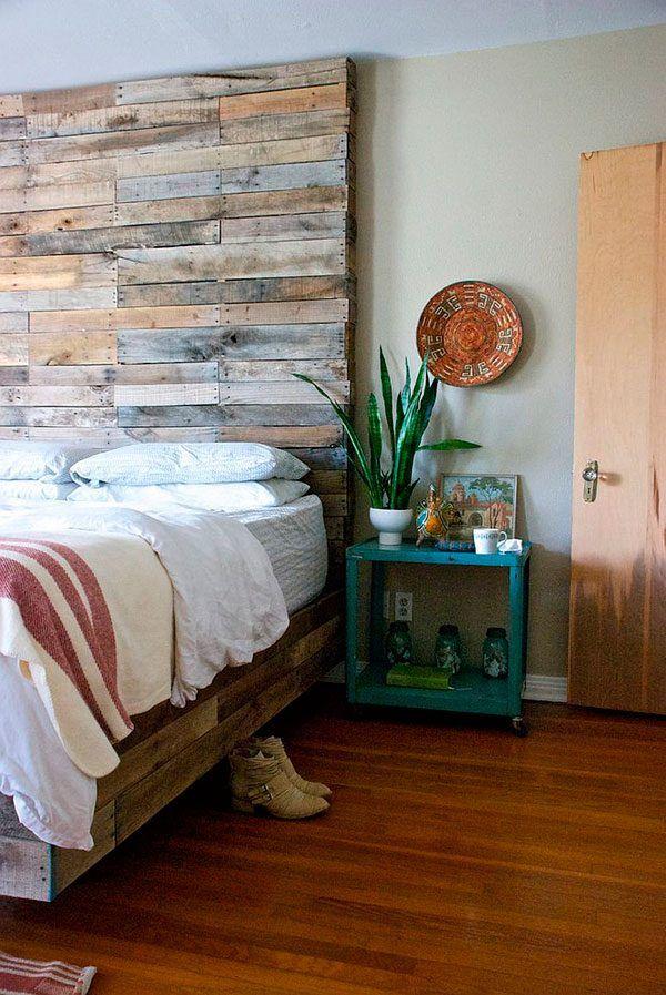 Resultado de imagen de cabeceros de cama pared madera   Cabeceros ...