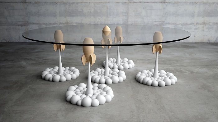 Rocket Coffee Table By Stelios Mousarris