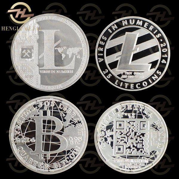 Dogecoin Souvenir Commemorative coin 1 OZ .999 Silver Plated 25 LTC Physical Litecoin & Bitcoin Coin