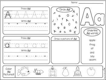 alphabet practice printables teaching alphabet worksheets alphabet writing practice. Black Bedroom Furniture Sets. Home Design Ideas