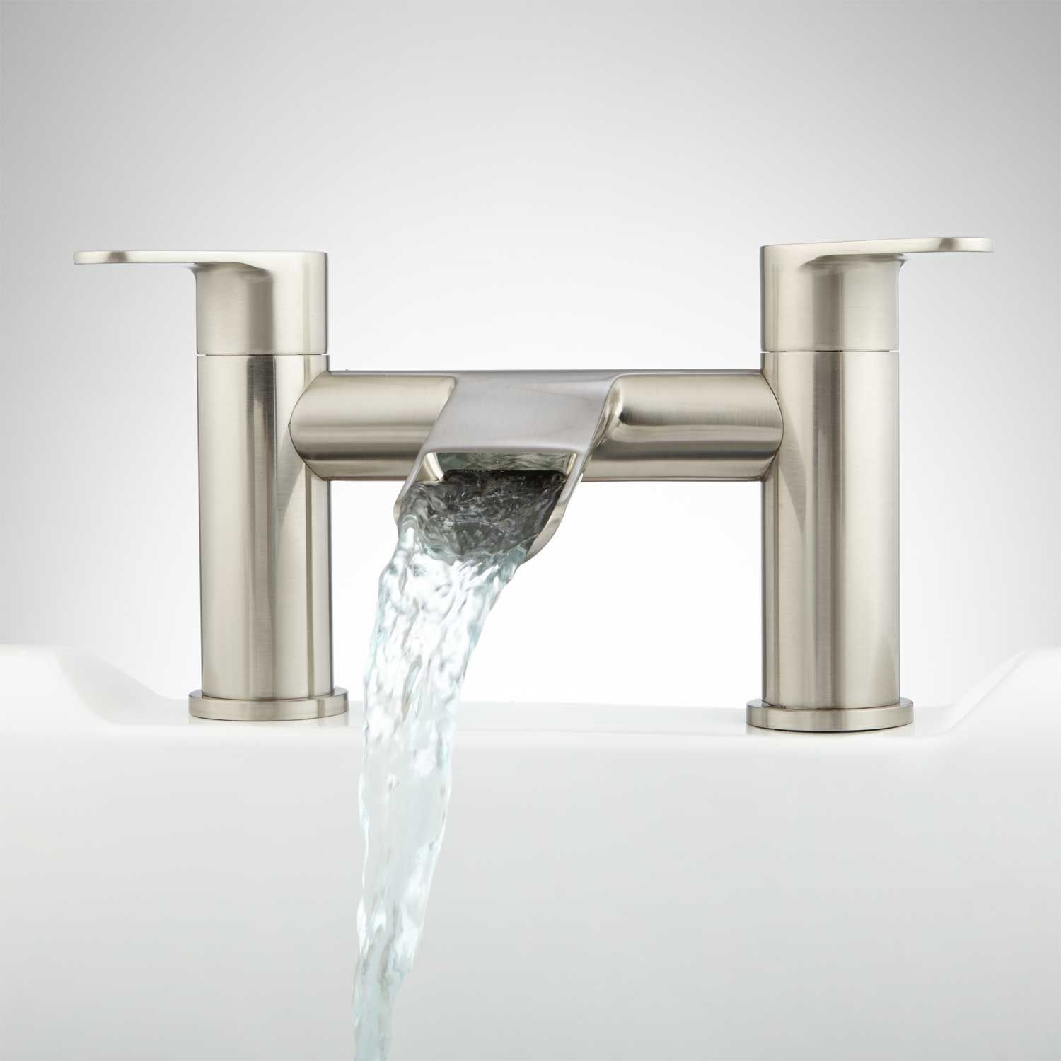 Pagosa Waterfall Deck-Mount Tub Faucet | Faucet, Tubs and Decking