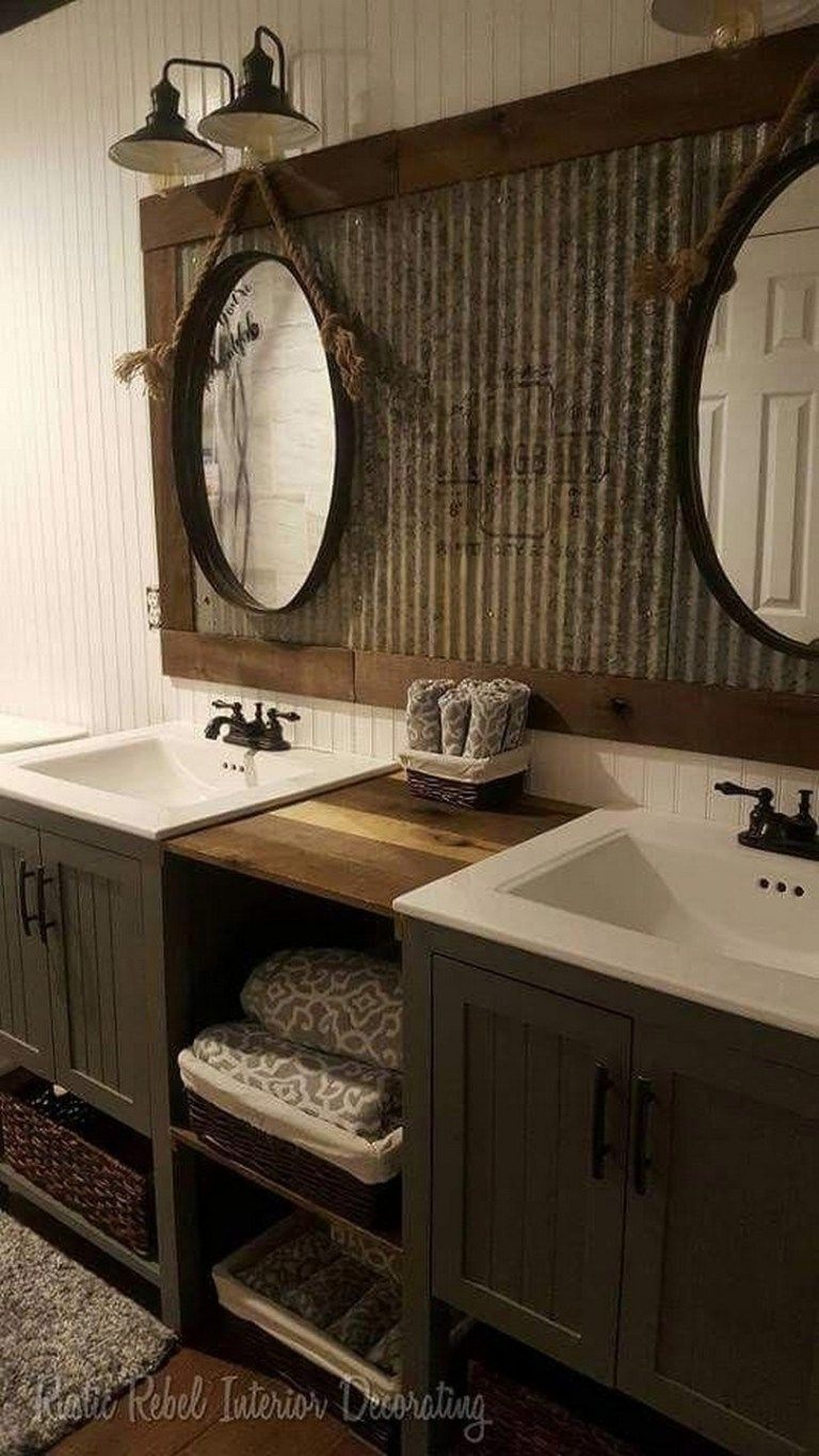Photo of ✔40 the best rustic bathroom ideas for your bathroom 26