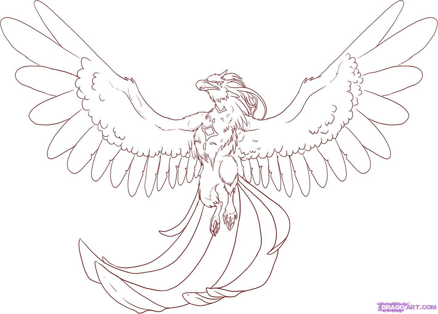 coloring pages of phoenix - photo#27