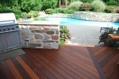 Deck With Stone Pillars   3