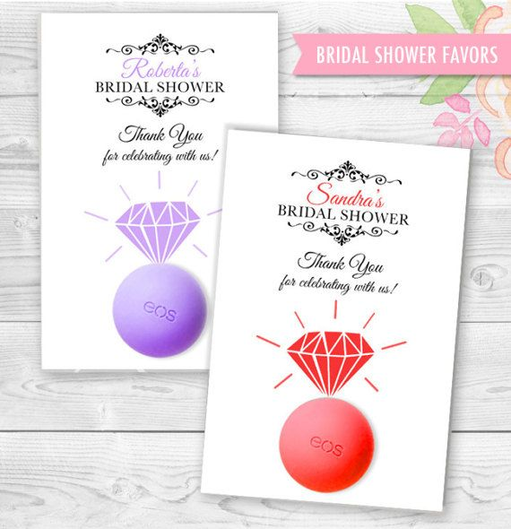 engagement ring eos lip balm bridal shower favor template adorable bridesmaids to be