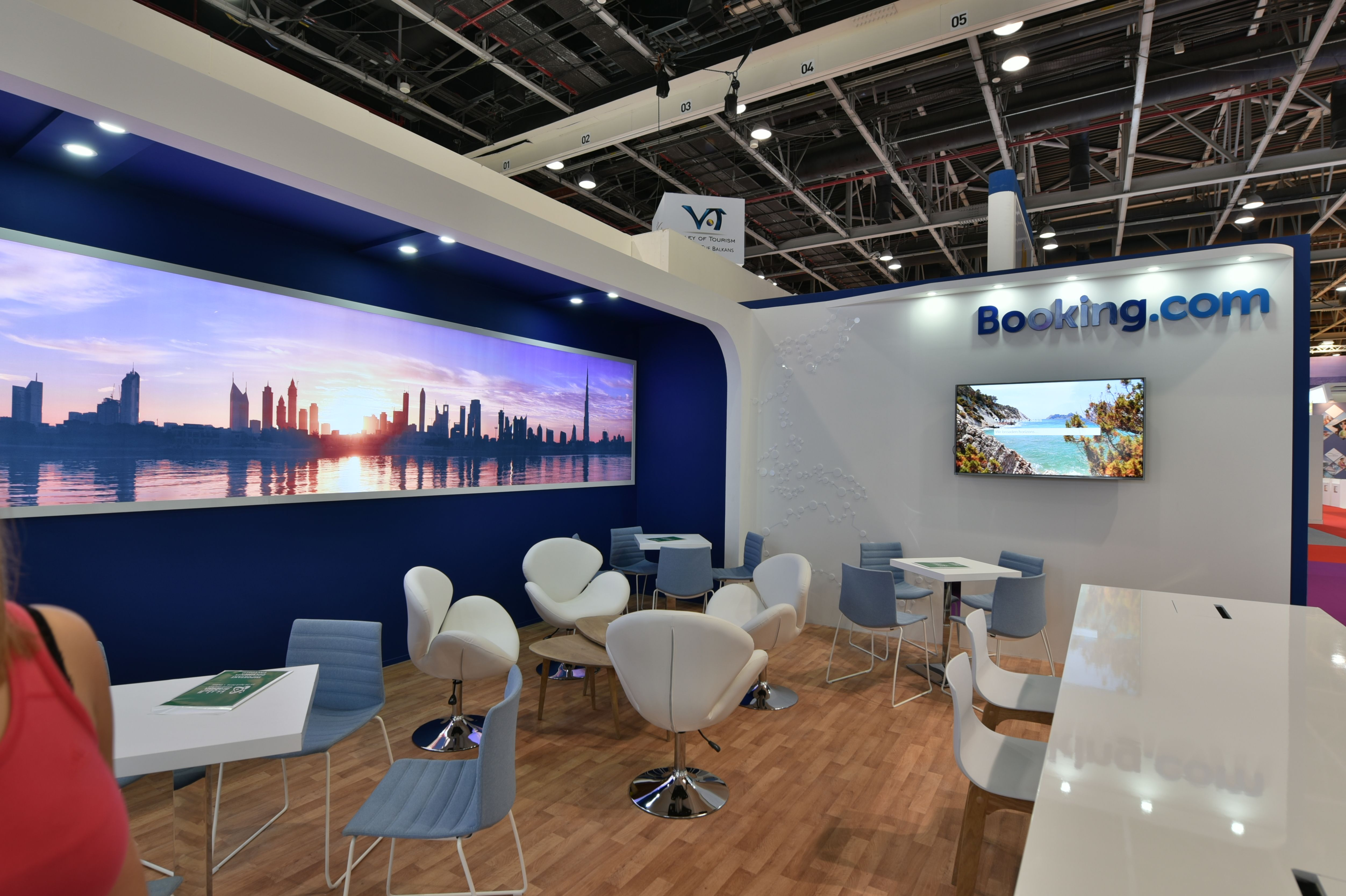 Bookingcom Exhibition Stand Design by Elevations UK for ATM Dubai