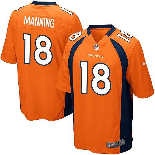 buy online 0279f e8bfc Men's Nike Denver Broncos Peyton Manning Game Team Color ...