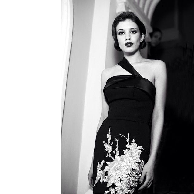 classic, classical. Anya Chipovskaya ❤ wearing Bohemique dress FW 13/14