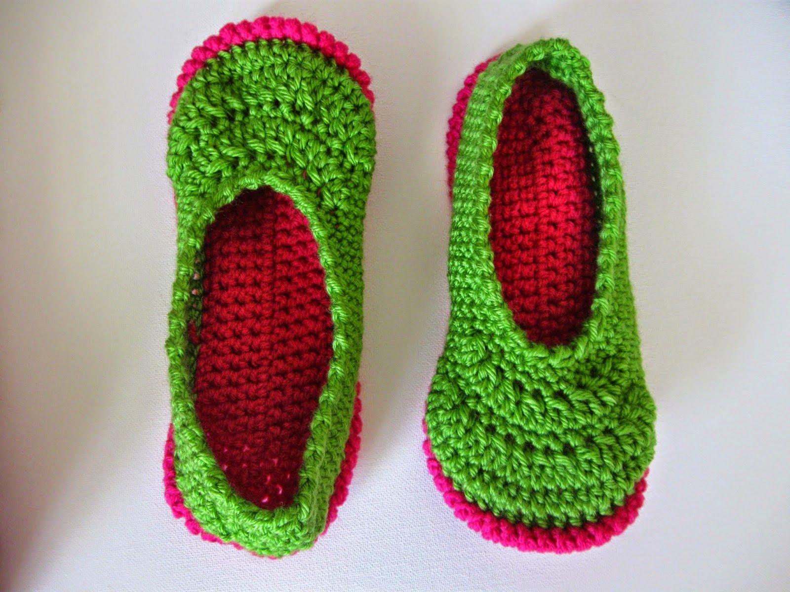 Vivre au crochet: Easy slippers: crochet-style - \