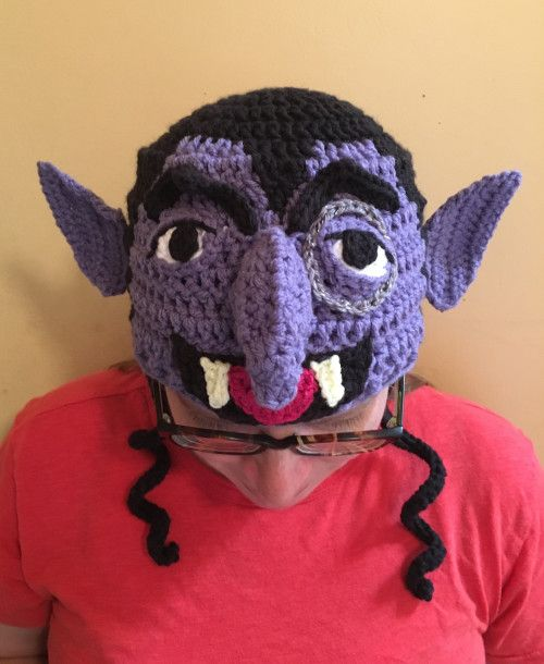 Count Von Count Muppet Earflap Hat Ready to Ship/Big Kid size ...