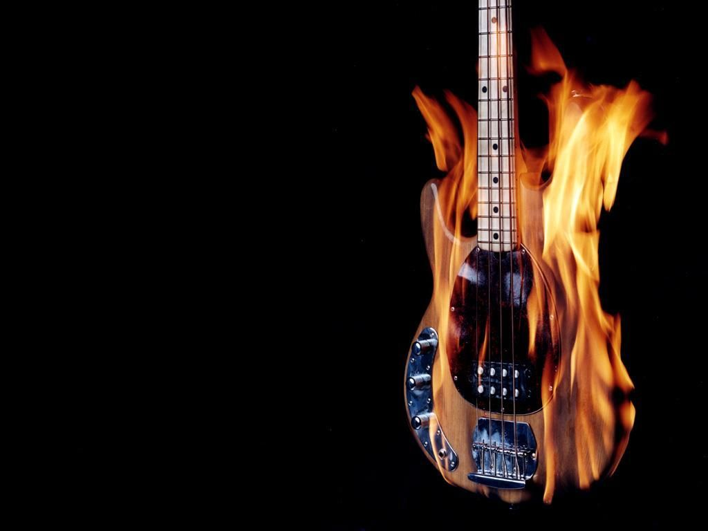 Flamin Bass Music Wallpaper Guitar Music Wallpaper Bass