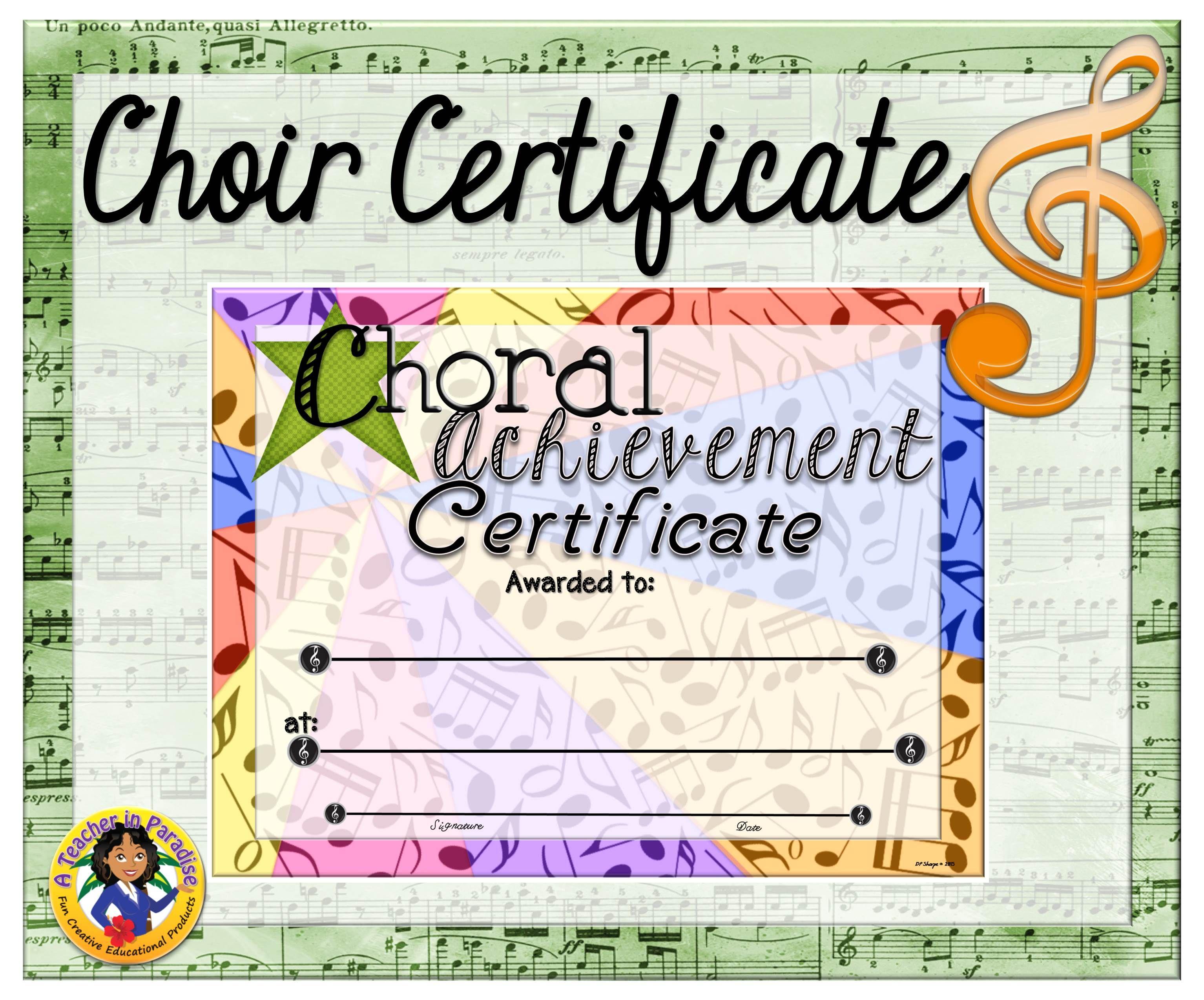 Choir Certificate 5