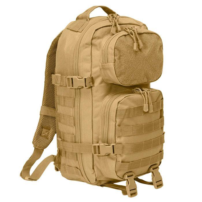 BRANDIT LARGE MILITARY COTTON CANVAS BAG ARMY PATROL MESSENGER DAYPACK CAMEL