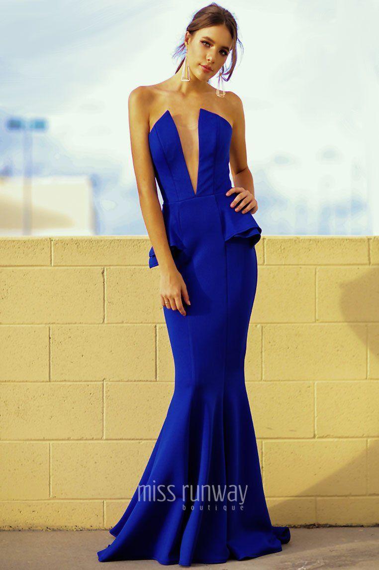 Giselle gown cobalt formal dresses pinterest formal dresses