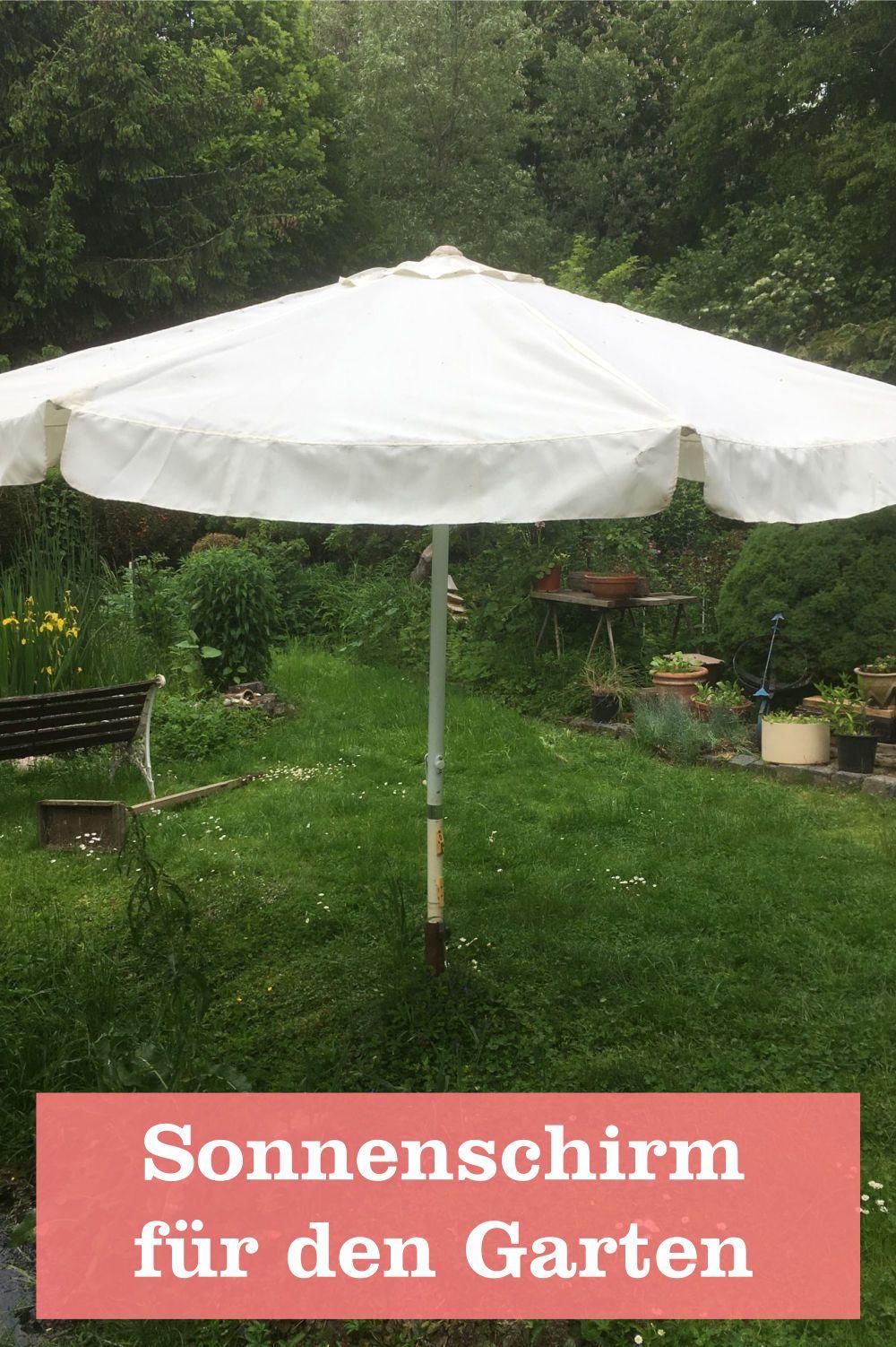 Werbung Ein Sonnenschirm Fur Den Garten Gartenbob De Der Garten Ratgeber Sonnenschirm Garten Schirm