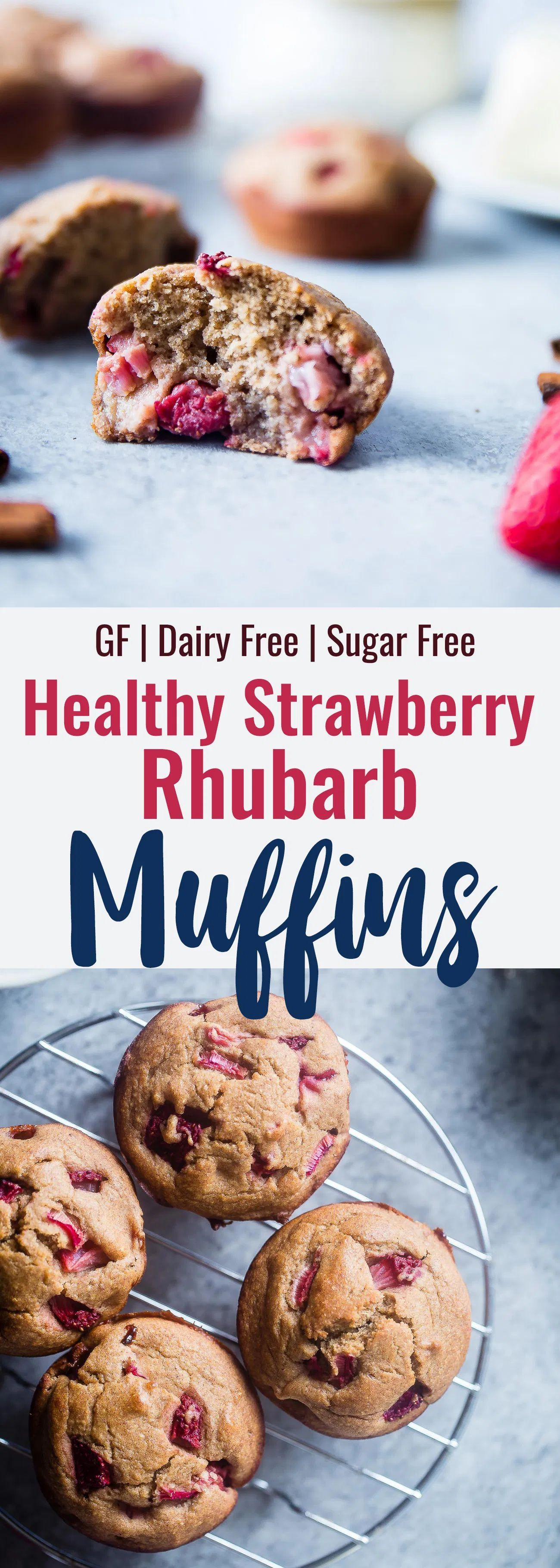 Strawberry Rhubarb Oatmeal Muffins In 2020 Rhubarb Recipes Best Gluten Free Recipes Rhubarb Oatmeal Muffins