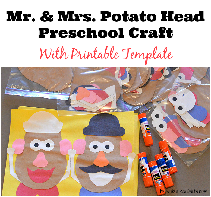 Mr And Mrs Potato Head Craft For A Toy Story Party – Mr Potato Head Birthday Card