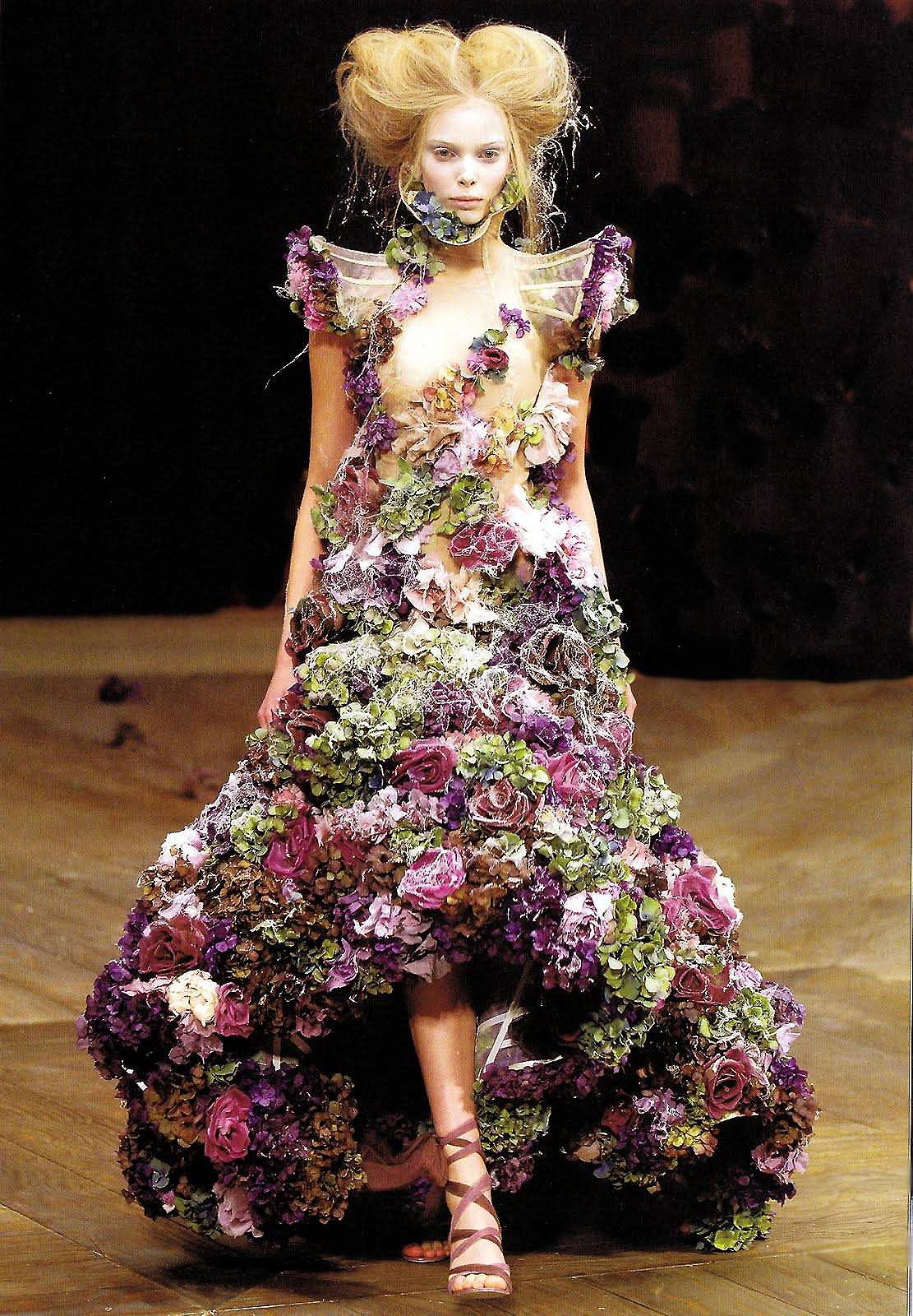 """68164a860c3 stopdropandvogue  """" Floral Couture Flowers and plants have inspired  everything in fashion from headpieces and backdrops"""