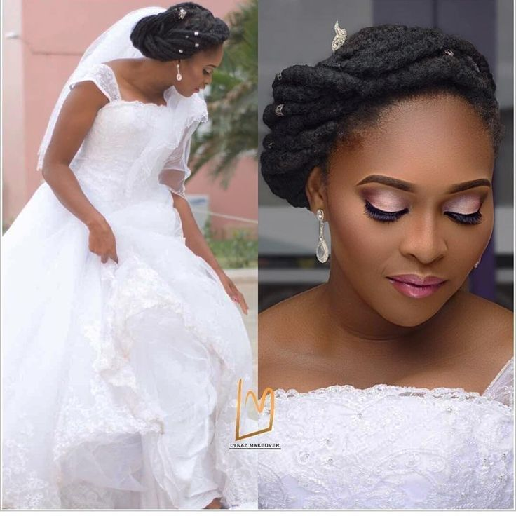 Wedding Hairstyle Hacks: Natural Hair Bride Ideas « Makeup By @lynazmakeover