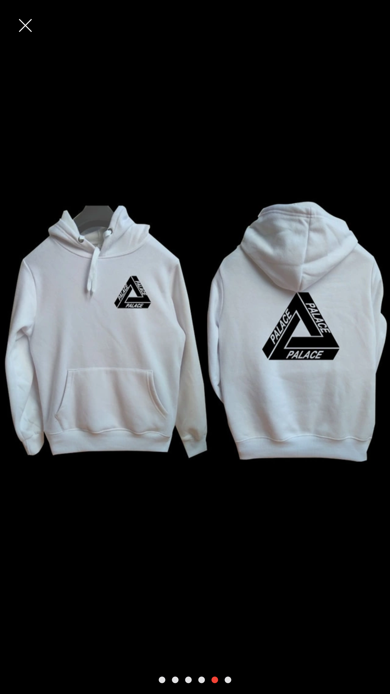 adidas x palace white sweatshirt, Womens & Mens (unisex