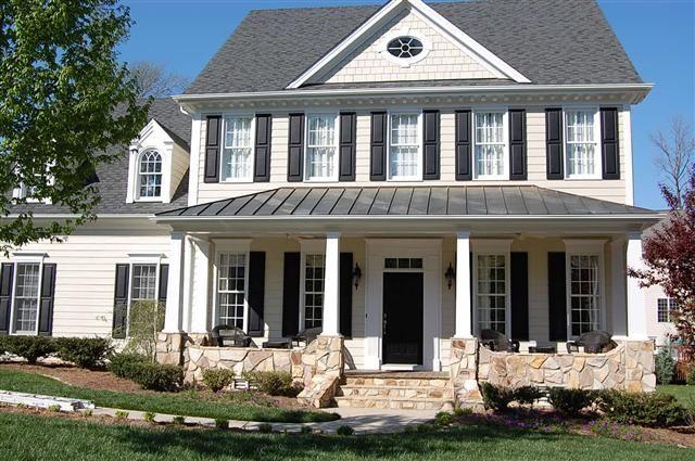 Yellow House Black Shutters Black Door Happy Home