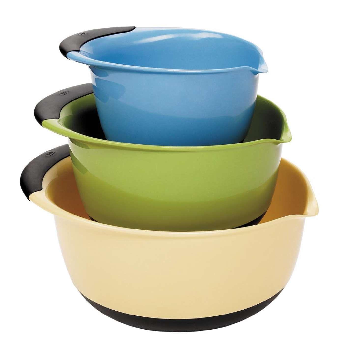 3-Piece Mixing Bowl Set - Assorted Colors