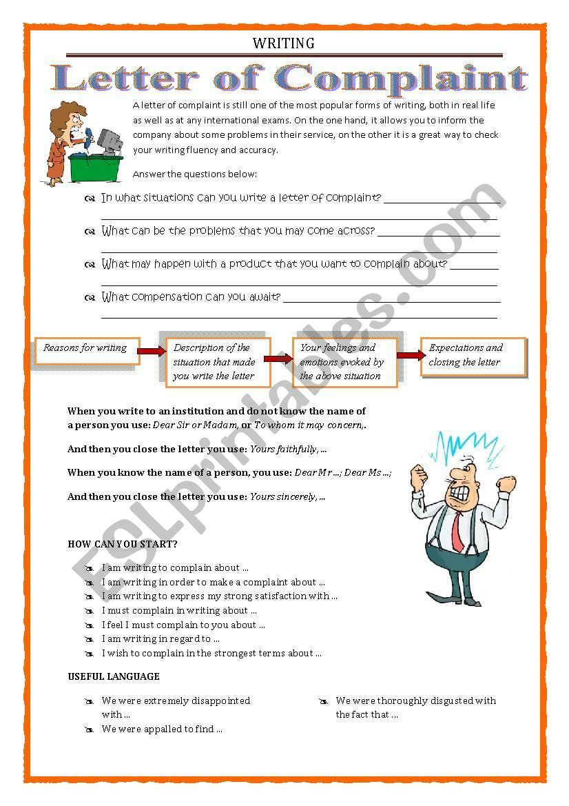 helpful expression, useful language for writing a letter