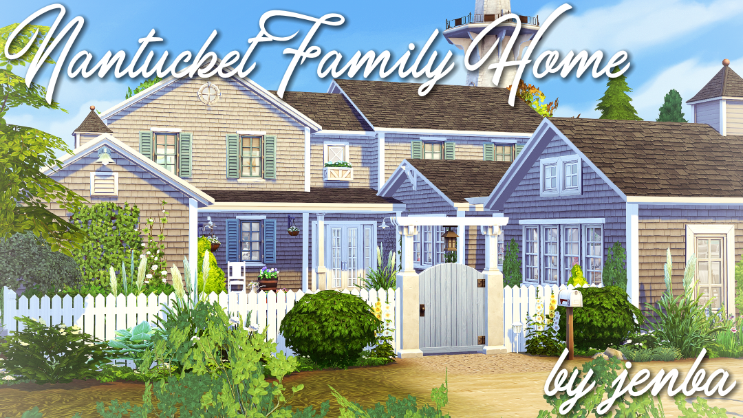 Http Jenba Tumblr Com Post 169600790997 Nantucket Family Home By Request Ive Finished Up Sims House Sims 4 House Plans Sims Building