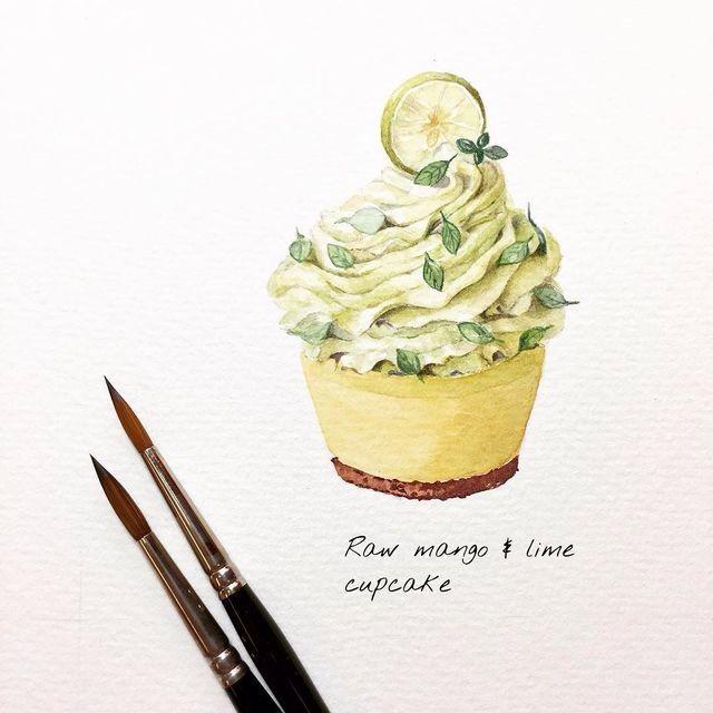 Draw Drawing Cizim Cizimler Cake Cupcake Lemon Kek Tatli