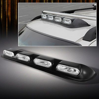 Roof Top 4x4 Offroad Suv Truck Clear Fog Lights Bar W