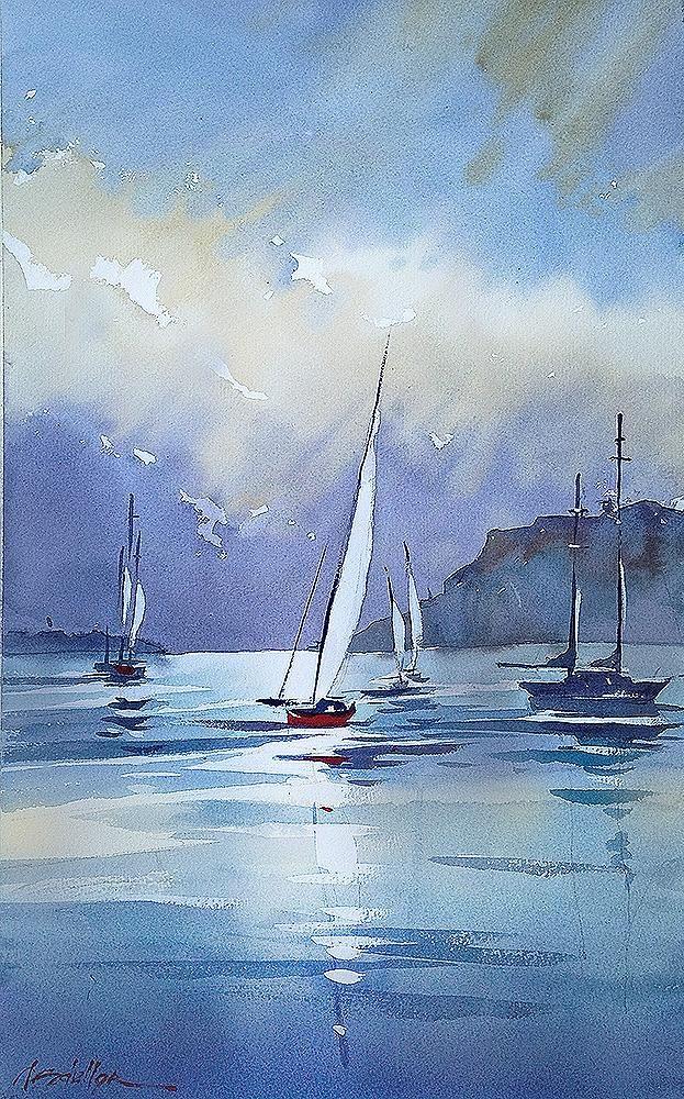 Thomas W Schaller On 바다 그림 해변 별장