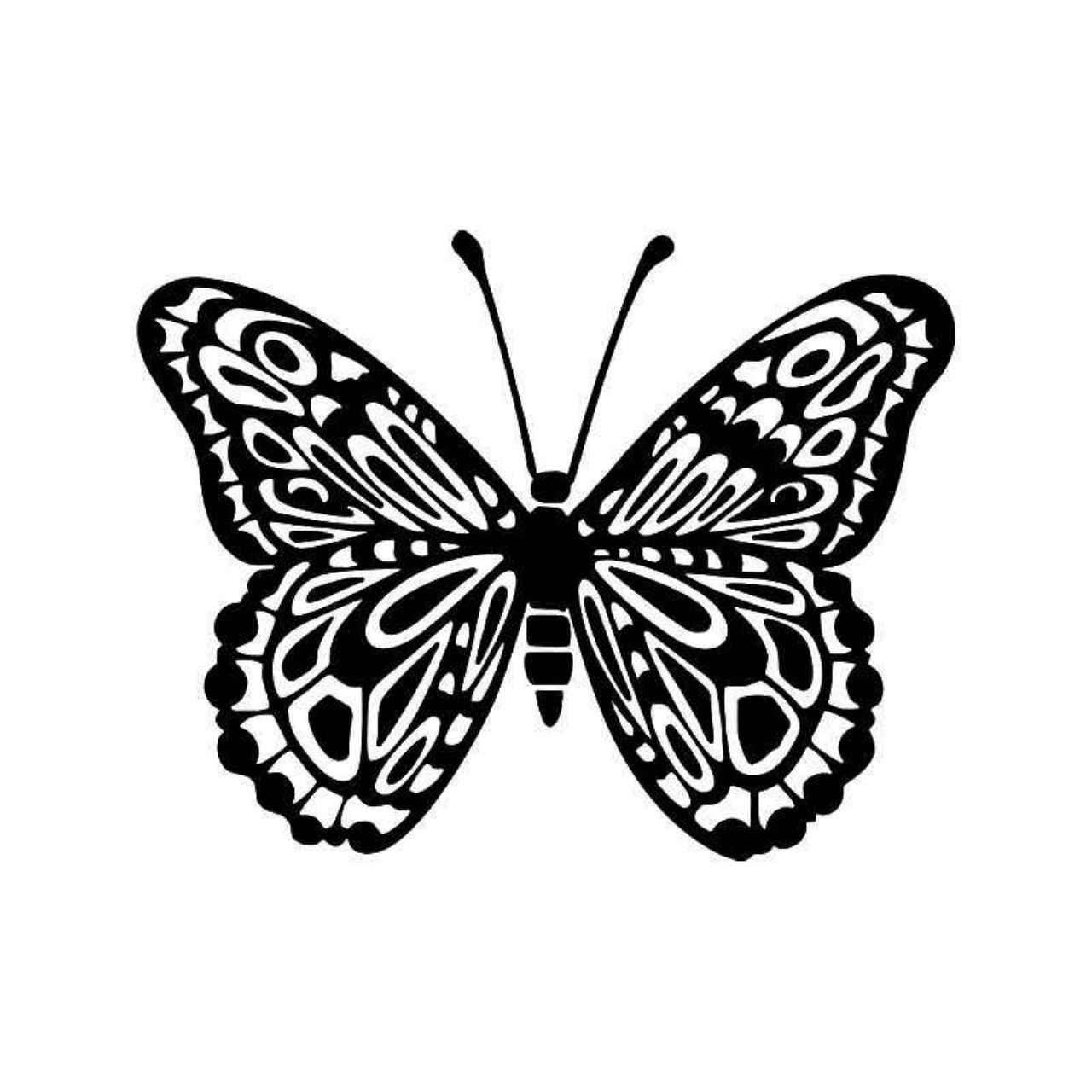 Tribal Butterfly 7 Vinyl Decal Sticker