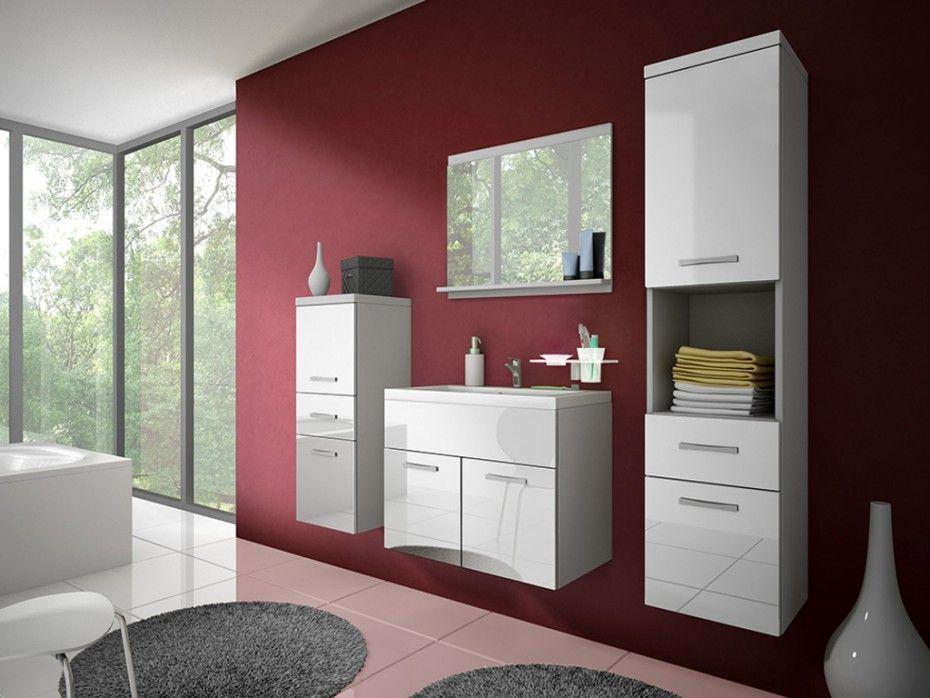 Ensemble CLAUDIA - meubles de salle de bain - laqué blanc   Salle ...