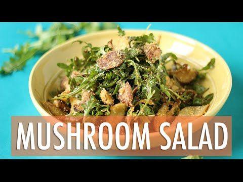 Warm crispy mushroom salad recipe easy dinner recipe youtube warm crispy mushroom salad recipe easy dinner recipe youtube forumfinder Images