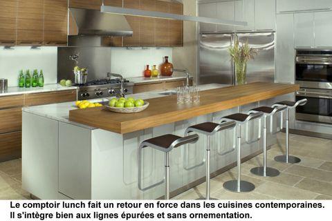 Comptoir lunch contemporain recherche google cuisine pinterest kitchens - Mobilier design contemporain cuisine ...