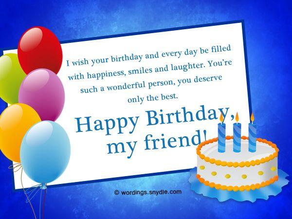 Friend Birthday Wishes Best 50 Birthday Wishes for a Friend – Friend Birthday Greeting