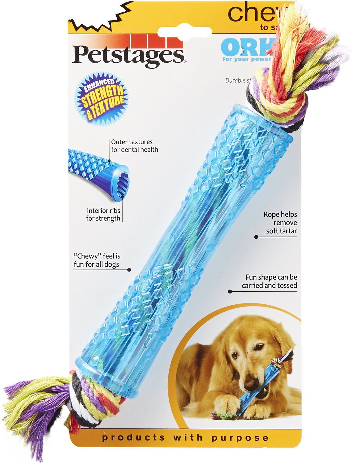 Petstages Orka Stick Dog Chew Toy Regular Chewy Com Dog Chew