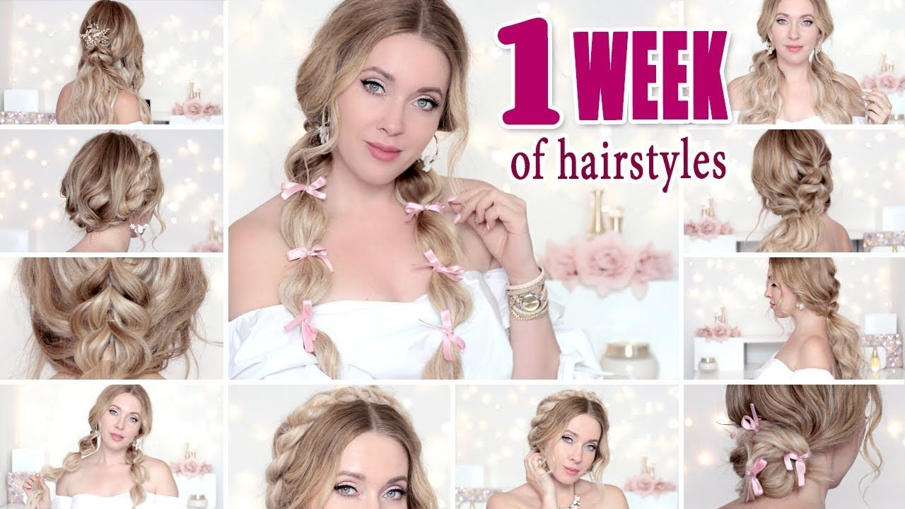 Back to school week of hairstyles or everyday easy cute quick