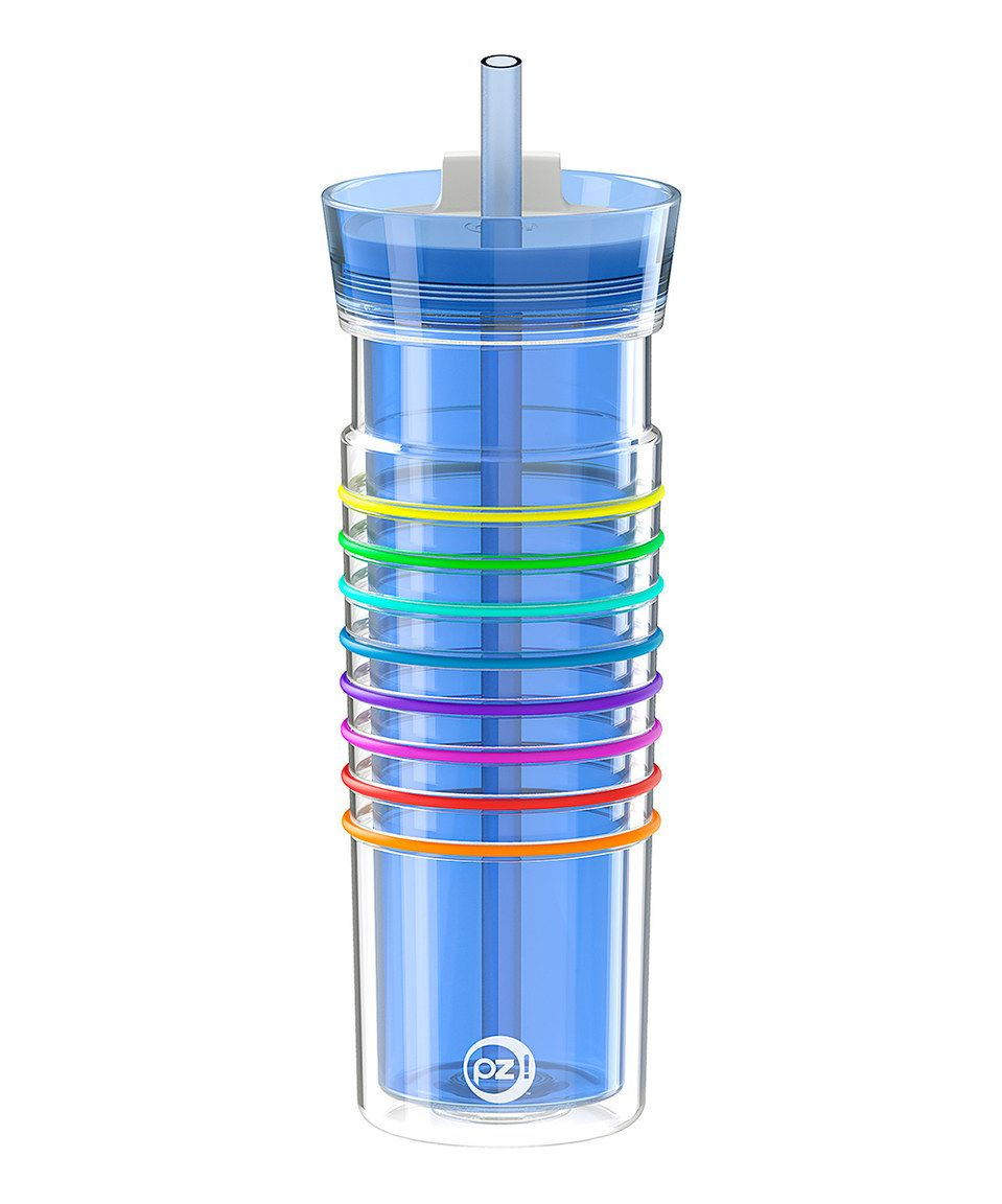 Look at this #zulilyfind! Blue & Rainbow 20-Oz. Hydratrak Straw Tumbler by Zak Designs #zulilyfinds