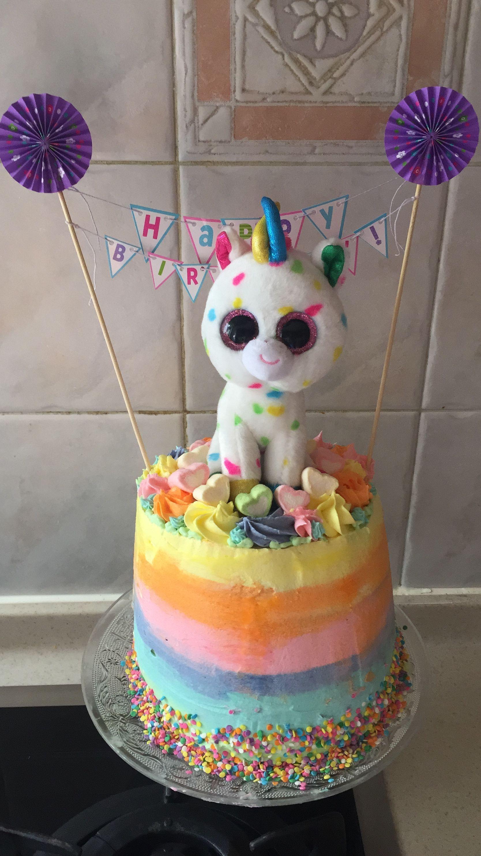 Beanie Boo cake in 2020 | Beanie boo birthdays, Baby ...